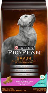 Purina Pro Plan Savor Adult Shredded Blend With Probiotics Salmon Rice Formula Dry Dog Food 5 Lb Bag