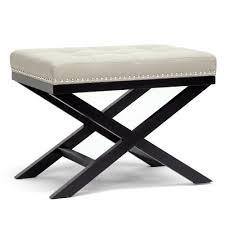modern bedroom benches. baxton studio hopton modern bench, beige bedroom benches a