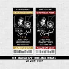 Party Ticket Invitations Inspiration GRADUATION PARTY TICKET Invitations Or Announcement Class Of Etsy