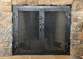 fireplace screen doors home depot wrought iron door replacement