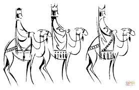 Drie Koningen Op Kameels Kleurplaat Gratis Kleurplaten Printen