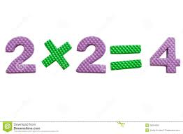 royalty free stock photo 2x2 simple mathematical