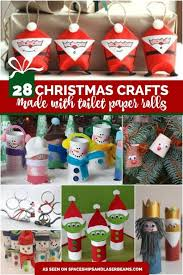 28 Paper 28 Christmas Crafts Made From Toilet Paper Rolls