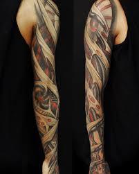 тату рукав биомеханика татуировки татушка