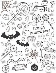 Small Picture Halloween Coloring Page with Cute Candy OOLY
