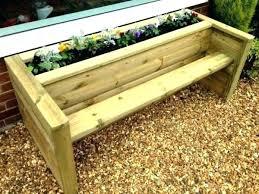 wooden planter bench planter s arm rest big box plans with bench seat garden storage planter