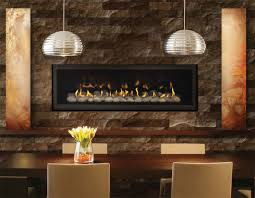 interior excellent modern dining room decoration using globe steel within long gas fireplace prepare 10