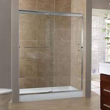 h semi framed sliding tub door in