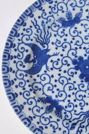 Blue And White China Pattern Interesting Vintage Japanese Blue White China Phoenix Ware Birds Pattern