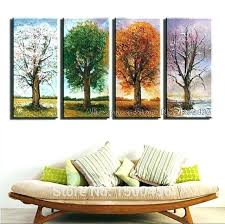4 piece wall art set canvas 4 piece wall art hand painted 4 season tree oil 4 piece wall art set  on 4 piece wall art set with 4 piece wall art set bright pink abstract flower oil paintings large