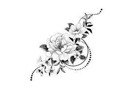 тату временное Arley Sign графические цветы