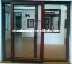 glass door wood frame how to paint sliding glass door frame with wooden design ideas brown
