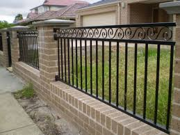 wrought iron fence brick. Image Of: Wrought Iron Fencing Finials Fence Brick