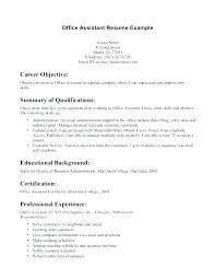 Entry Level Resume Objectives Srhnf Info