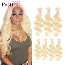 POSH BABE 1/3/4 Bundles Malaysian Body Wave Remy Human Hair Extensions  Weave 8 36 inch 613 Platinum Blonde Color Bundles Weft|Hair Weaves| -  AliExpress