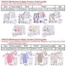 Newborn Baby Clothes Size Chart Details About 5pc 8pc Best Gift Newborn Baby Cotton Monk Shirt Pants Hat Suits Infant Clothes