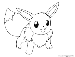 Small Picture EEVEE Coloring Pages Free Printable