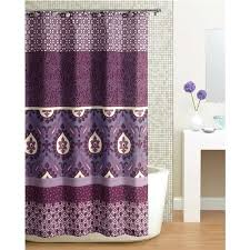 awesome dark purple shower curtain beautifully idea paisley liner uk baby bridal decoration and gray fabric
