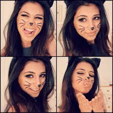 how to do a cat face with makeup cat makeup tutorial you