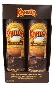 turin kahlua coffee liqueur flavor filled milk chocolates 14 1 oz gift set