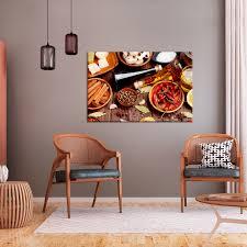 Details Zu Leinwand Bild Küche Gewürze Kräuter Xxl Kunstdruck Esszimmer Wandbilder 2 Motive