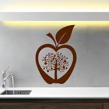Kitchen Stencil Kitchen Apple Tree Flower Modern Wall Art Sticker Decal Transfer