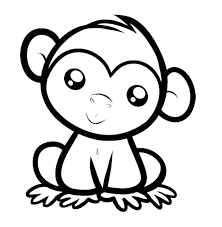 Small Picture 35 Monkey Coloring Pages Naughty and Cute Animal Coloring Pages