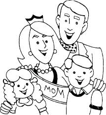 Family Coloring Pages Preschool Raovat24hinfo