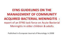 Management Guidelines Pyogenic Meningitis