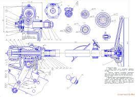 Курсовые и дипломные работы автомобили расчет устройство  Чертеж Рулевой механизм ГАЗ 53 70