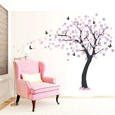 wall decals trees and flowers large cherry blossom tree wall decal wall  decals