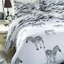 zebra bedding set cartoon zebra bedding set black white duvet cover bed set single double queen zebra bedding set rainbow zebra comforter set pink