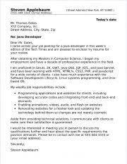 Java Developer Cover Letter Sample