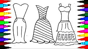 Coloring Pages Dresses For Girls L Polkadots Drawing Pages To