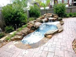 Small Spa Pool Designs 1 3 D Spa And Pool With Waterfall Indoor Spa