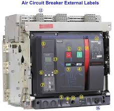 air circuit breaker construction operation types and uses delixi air circuit breaker external labels rated current and voltage 1ka 415v