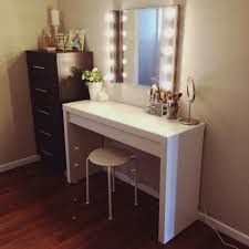 cabinet elegant lighted vanity table make up top mirror for broadway tabletop set decor doherty house