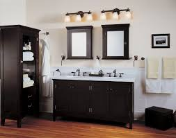 black and white contemporary bathroom vanity light fixtures ideas with hardwood floors also oak bathroom vanity cabinets and black bathroom lighting double