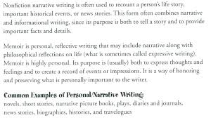 Examples Of Narrative Essays For High School Writing A Narrative