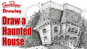 haunted house drawing. haunted house drawing k