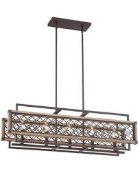 amazing ping savings vickary rustic bronze and wood 36 1 4 w within rectangular chandelier idea 7