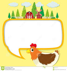 chicken border clip art. Modren Art Download Border Design With Chicken And Farm Stock Vector  Illustration Of  Clipart Rooster Intended Clip Art