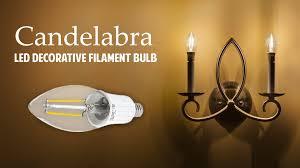 led decorative filament candelabra bulb