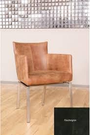 Stuhl Belmeri Esszimmerstuhl Leder Foggia Farbe Flaschengrün