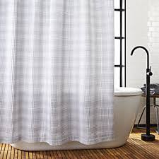 modern bathroom shower curtains. Delighful Shower White And Grey Waffle Weave Shower Curtain Intended Modern Bathroom Curtains R