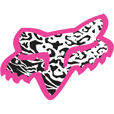 fox racing pink.black,and white sticker | motorcross | Pinterest ...