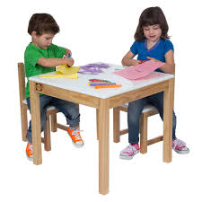wooden table and chair set white 1