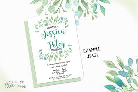 watercolor clipart frames png files greenery leaves leaf pretty by bloomella thehungryjpeg
