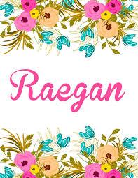 Floral Designs By Raegan Raegan Personalised Name Notebook Journal Gift For Women