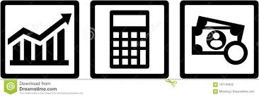 Chart Advisor Tax Advisor Icons Chart Calculator Money Stock Vector